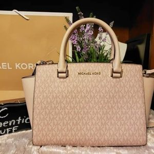 Michael Kors Selma medium top zip satchel